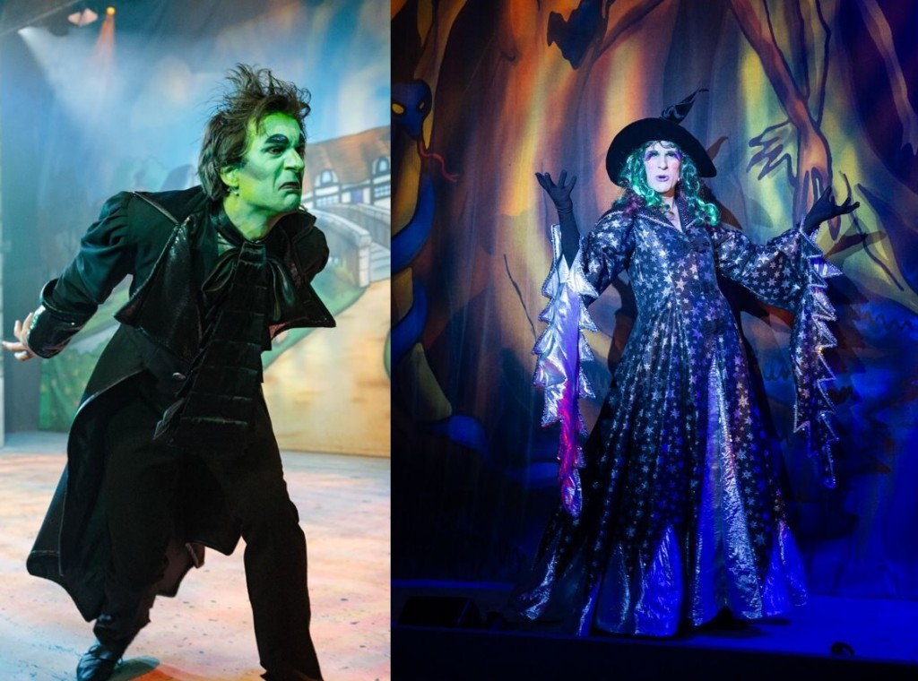 Alex Scott Fairley as Fleshcreep in Jack and the Beanstalk and Witch in Beauty and the Beast. Photo: Graham Bennett